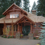 Handcrafted Dovetail Home Caribou Creek Log Homes Exterior