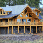 Handcrafted Full Round Logs Support This Magnificent Home