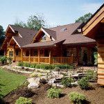 Handcrafted Log Home Rails Landscaping Character Logs Breezway