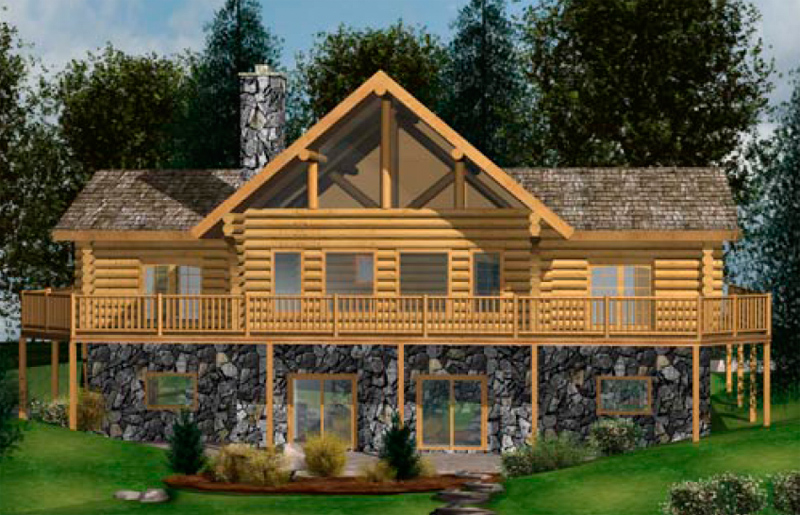 Handcrafted Small Log Home Floor Plans Caribou Creek Timber