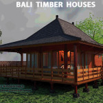 Hardwood Prefab Bali Houses Wooden Home Kits Gazebos