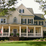 Home Designs White Wall Green Lawn American Style Dream Homes