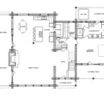 Homestead Log Home Floor Plan Main