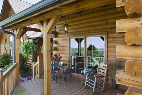 Honest Abe Log Homes Gallery Porch Patio And Deck
