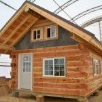 House Tiny Log Cabin Square Montana Mobile Cabins