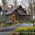 Hybrid Home Wisconsin Precisioncraft Log Timber Homes