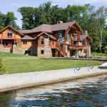 Hybrid Log And Timber Homes New Jersey Lake Home