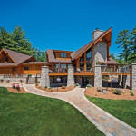 Hybrid Log And Timber Homes Wisconsin Home