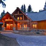 Hybrid Log Home Traditional Exterior Denver Mountain