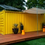 Idea House Hybrid Architecture Yellow Shipping Container Home