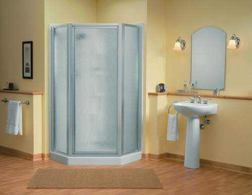 Intrigue Neo Angle Shower Unit Sacramento Pedestal Lavatory