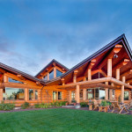 Ivy And Architects Contemporary Log Home