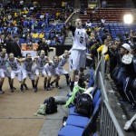Kassidy Blevins Leads Cheer Her Team And Fans After The Game