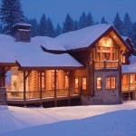 Large Holiday Log Cabin The Snow Christmas Homes Community