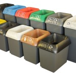 Litre Recycling Bin Colour Coded Lids For Office
