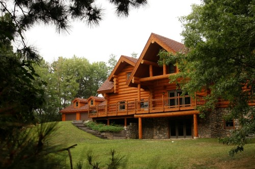 Log Home Bjorkstrand Metal Roofing