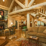 Log Home Edenfield Traditional Living Room Other Metro