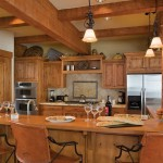 Log Home Floor Plan Design Stories Kitchen Dining Room Combo