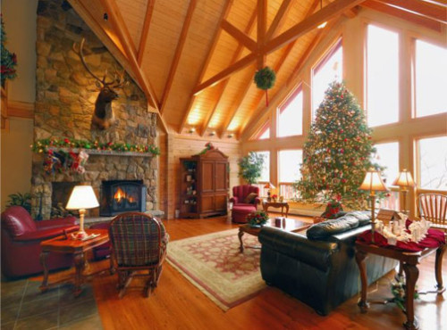 Log Home Interior Image