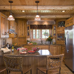 Log Home Kitchen Dining Expedition Homes Llc