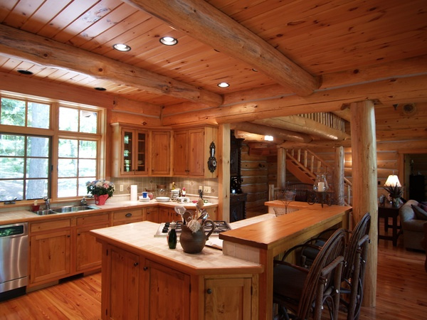 Log Home Kitchen Flickr Sharing