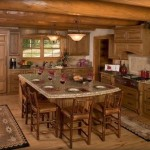 Log Home Kitchen Ideas For The House