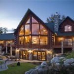 Log Home Made From Stone And Wood Luxury Architecture Design