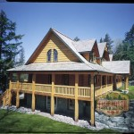 Log Home Models Citadel Model From True North Homes
