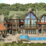 Log Home Plans Kensington Lodge Floor Plan Wisconsin