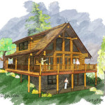 Log Home Plans Smaller Homes Grey Fox Floor Plan Estemerwalt