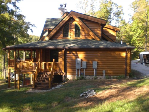 Log Home Repair Refinish Summertown Alpine Services