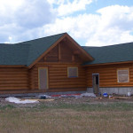 Log Home Staining Cowboy Homes