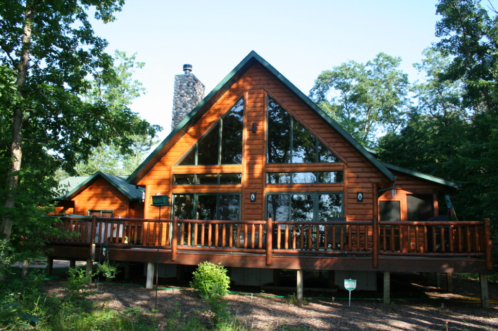 Log Homes For Sale Lake Petenwell Wisconsin Waterfront