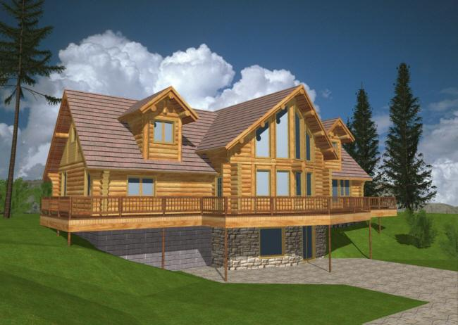 Log Style House Plans And Home Designs