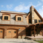Log Timber Home Exterior Precisioncraft Homes