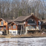 Log Timber Hybrid Home Under Construction The
