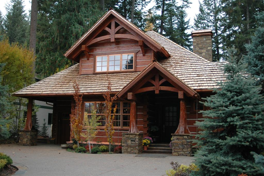 Lot Handcrafted Dovetail Log Home Caribou Creek And Timber