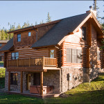 Luxurious Hand Hewn Log Home