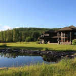 Luxury Log Homes And Luxurious Living Home For Sale Surrounded