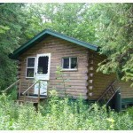 Maine Log Cabin Acres Near Grand Lake For Sale