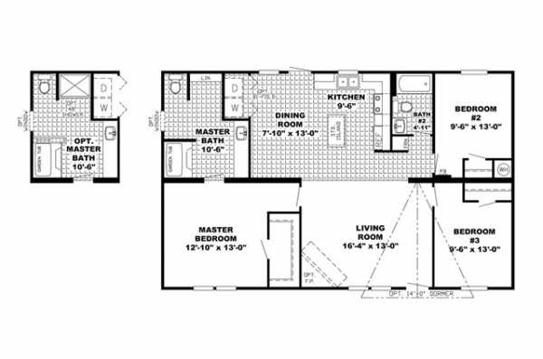 Manufactured Home Floor Plan Clayton Southern Performance Prf