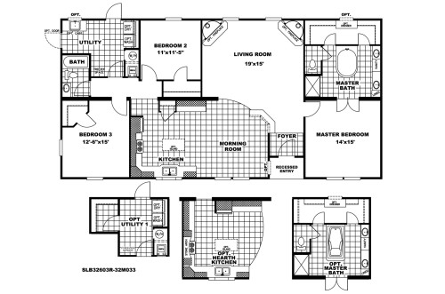 Manufactured Home Floor Plan Clayton Southern Star Liberty