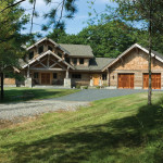 Milled Log Homes New England Home Front Drive