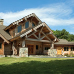 Milled Log Homes New England Home Front View