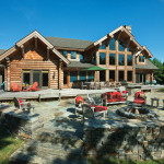 Milled Log Homes New England Home Rear