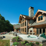 Milled Log Homes New England Home Rear Patio
