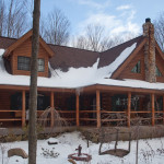 Misty Gables Amish Made Log Home For Sale Breesport Elmira
