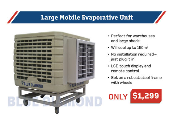 Mobile Evaporative Air Conditioner For Warehouse Shed Ebay