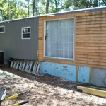 Mobile Home Exterior Remodel Install Siding And Underpinning