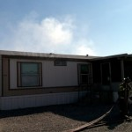 Mobile Home Fire Closes Road Tucson Side